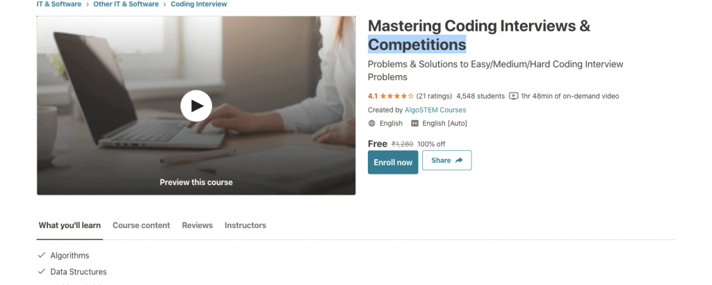 Mastering Coding Interviews & Competitions